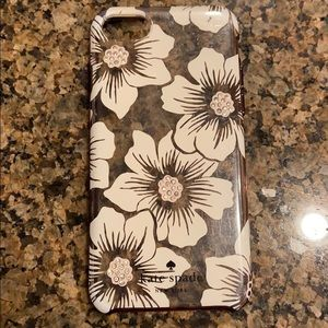iPhone 7 Kate Spade Hollyhock floral clear case
